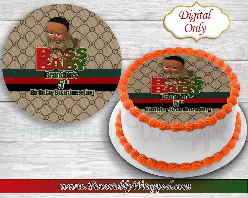 5cbe80bee578 Gucci Boss Baby Cake Image-Gucci Boss Baby Birthday-Boss Baby