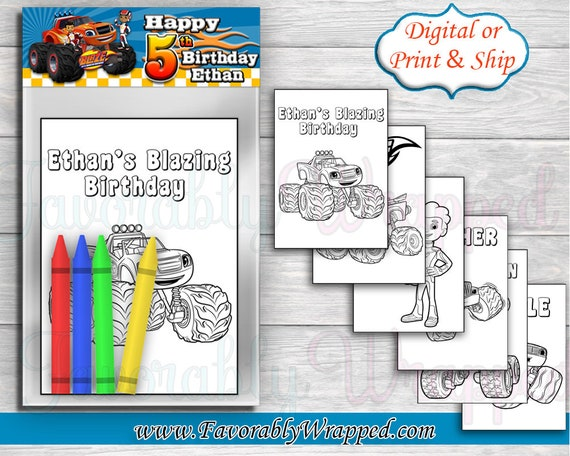 Blaze And The Monster Machine Coloring Pages Monster Truck Etsy