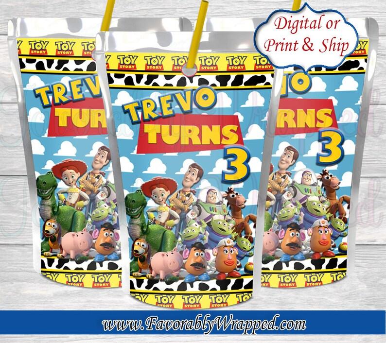 Toy Story Capri Sun Juice Labels-Toy Story Juice Label-Toy Story Baby Shower-Toy Story Birthday-Toy Story Party-Juice Label-Capri Sun