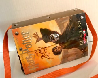 Harry Potter Book Purse Handbag~Deathly Hallows Book Cover~Harry Potter Gift