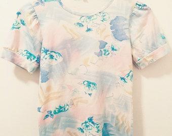 Vintage Floral Eighties Women's Shirt
