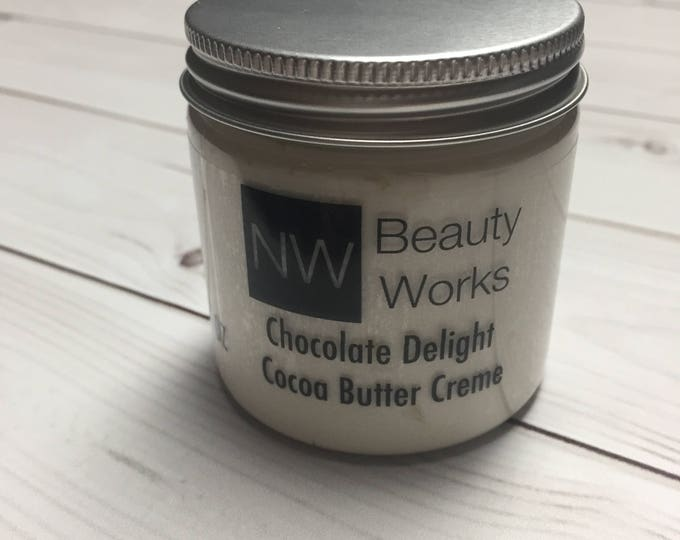 Featured listing image: Chocolate Delight Cocoa Butter Creme 4 oz | Smells like a chocolate candy bar!
