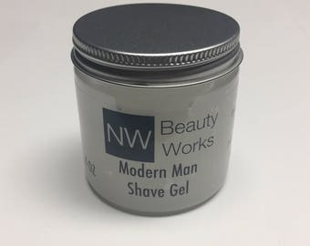Shave Gel for Men | Modern Man | A citrusy & woody masculine fragrance with hints of lime, rose, and a woody base. | 4 OZ