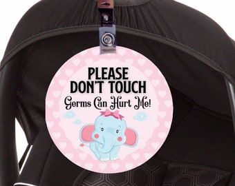 Car Seat Tag Accessories Sign Baby Dont Touch Preemie Shower Gift
