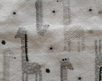 "Baby Burp Cloths - Gray Giraffe Pattern - 9""x15"" - 2 pack - Gender Neutral Burp Cloths"