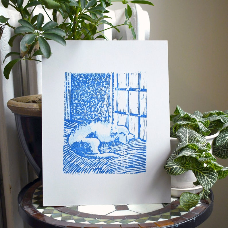 Sleeping Dog Art Print image 1