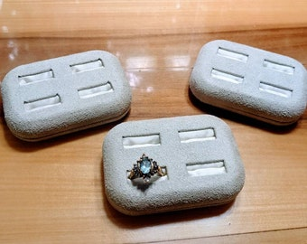 Ring set display set of 6 perfect for marching sets vintage genuine suede