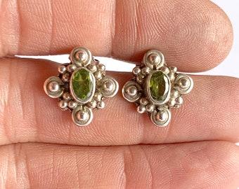 82d63bda9 Sterling Silver Peridot Stud Earrings, Peridot Earrings, Stud Earrings,  Gemstone Stud Earrings, Peridot Stud Earrings