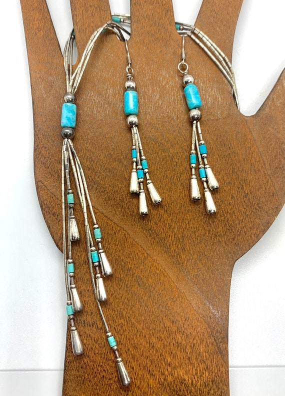 Carolyn Pollack Sterling Liquid Silver Turquoise E