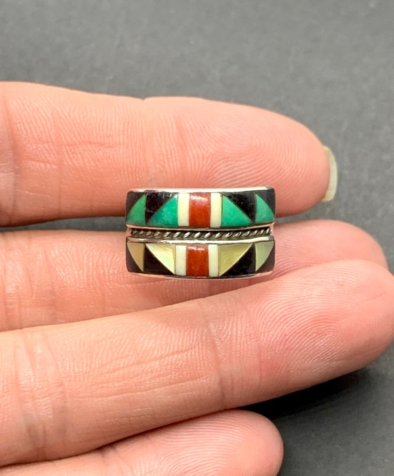 Andrew Dewa Signed Zuni Sterling Silver Turquoise