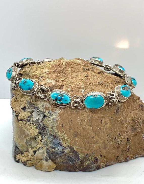 Vintage Southwestern Sterling Silver Natural Blue