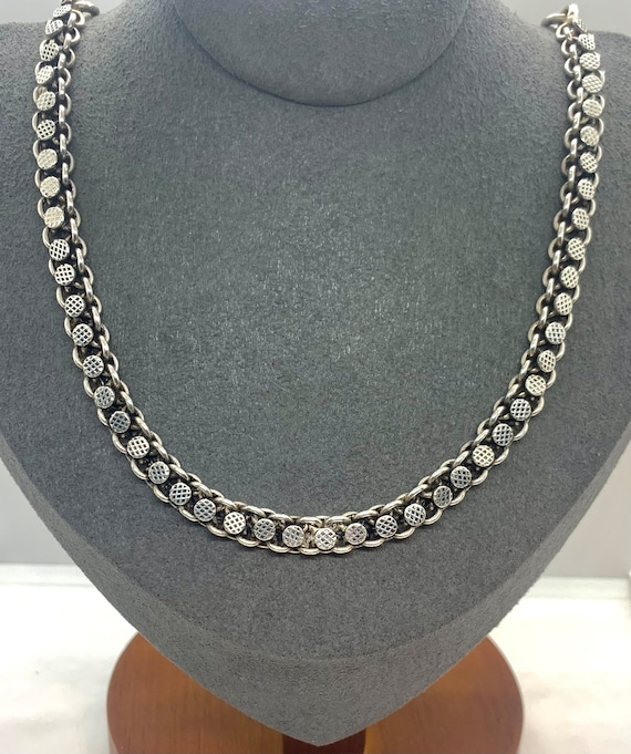 Vintage Heavy Sterling Silver Thick Custom Chain N