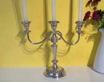 Vintage IANTHE Silver Plated Candelabra ~ Candleholder ~ Candlesticks ~ Mid Century ~ Centrepiece