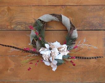 Burlap and Twig Wreath