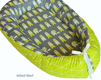 Baby Baby Nest Lounger To Make One Feel At Ease And Energetic Nursery Bedding