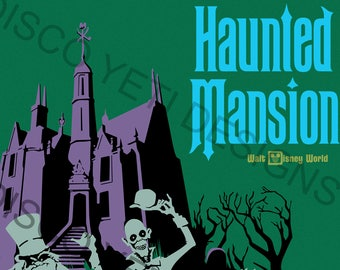 Vintage Disney World WDW Haunted Mansion Poster