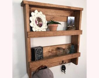 Rustic Entryway/Bathroom Shelf, Rustic Décor, Storage Shelf, Organizer, Farmhouse Décor