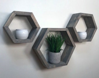 Hexagon Nesting Shelf Set
