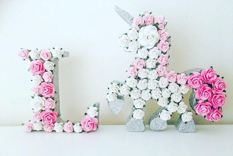 Flower unicorn unicorn flower flower lettersunicorn image 0