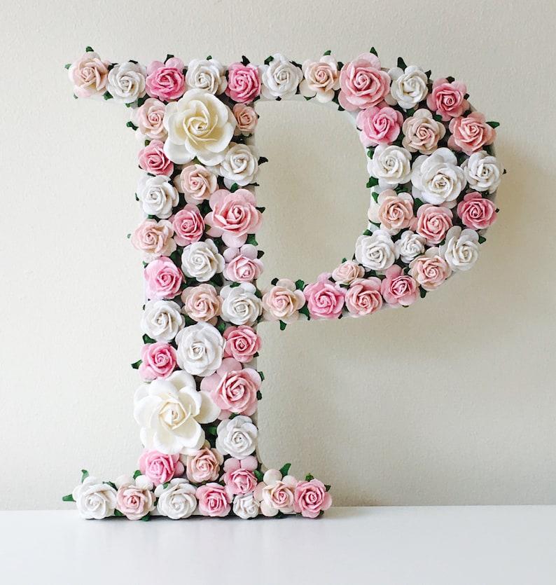 Blume-Buchstaben für Kinderzimmer Blume Buchstaben | Etsy