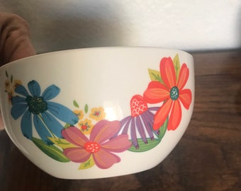 Two Royal Norfolk Floral Bowl White w/ Bright Flowers