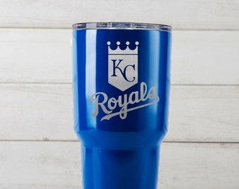 Yeti Tumblers Engraved With Kansas City Royals Personalized Yeti Tumblers 20 oz Kansas City Royals Yeti Gift For Men