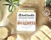 Beignet Wax Melt - Dessert Wax Tarts - Sugar Scented - Soy Wax Cubes