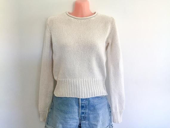c33e4fff9c8 des années 90 RALPH LAUREN tricot Vintage gros pull