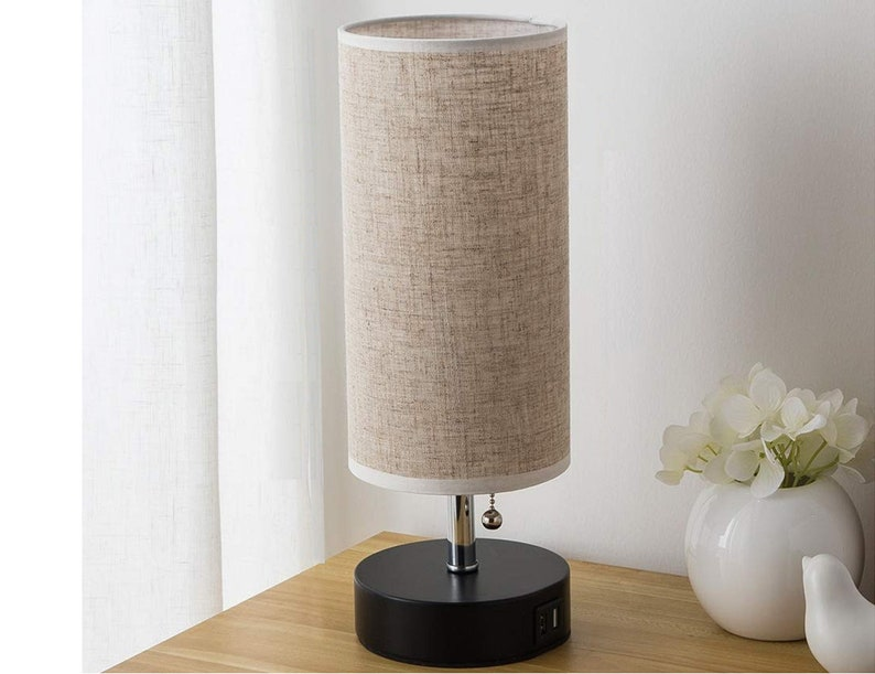 Spy Camera with WiFi Digital IP Signal, Camera Hidden in a Quality Modern  Lamp with USB Port (Wooden Base)