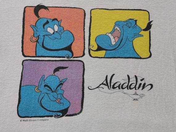 Very Rare vintage Aladdin Genie Movie Cartoon Tshi