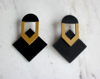 wooden earrings - laser cut earrings-large earrings