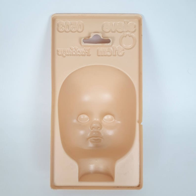 Vintage Doll head mold made in Holland doll parts mold Packhuys 13 cm Steve or wall decor