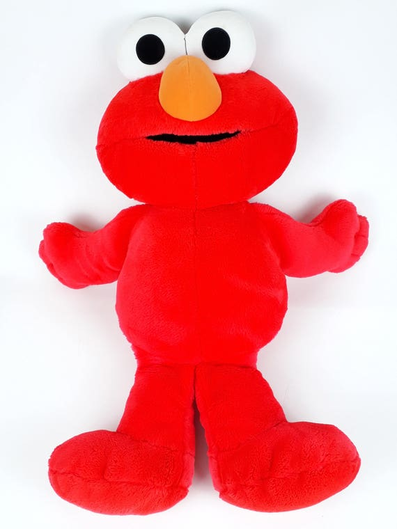 Giant Elmo Plush Toy 90 S Kids 1996 Series Peluche Elmo Etsy
