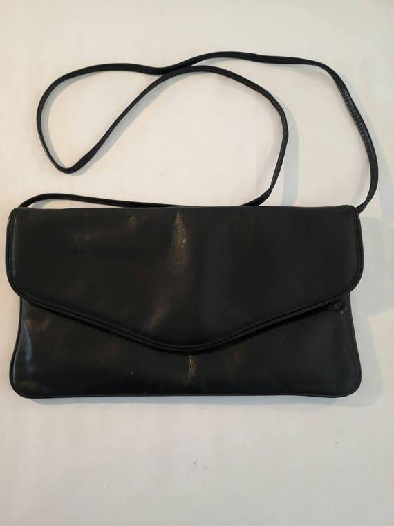eb752a4dab Handbag Vintage Flap Bag Genuine Leather Dark Blue Sac a main | Etsy