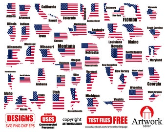 usa state flag black svg flags american flag flag clipart etsy
