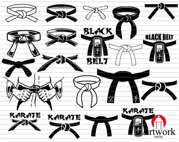 Karate Black Belt Svg Dxf Eps Png Jpg Vector Art   Etsy