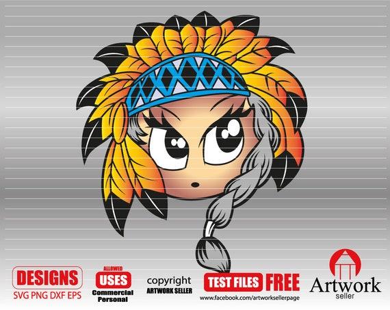 Indian Face Svg Indian Girl Svg Indian Svg Headdress Svg Etsy