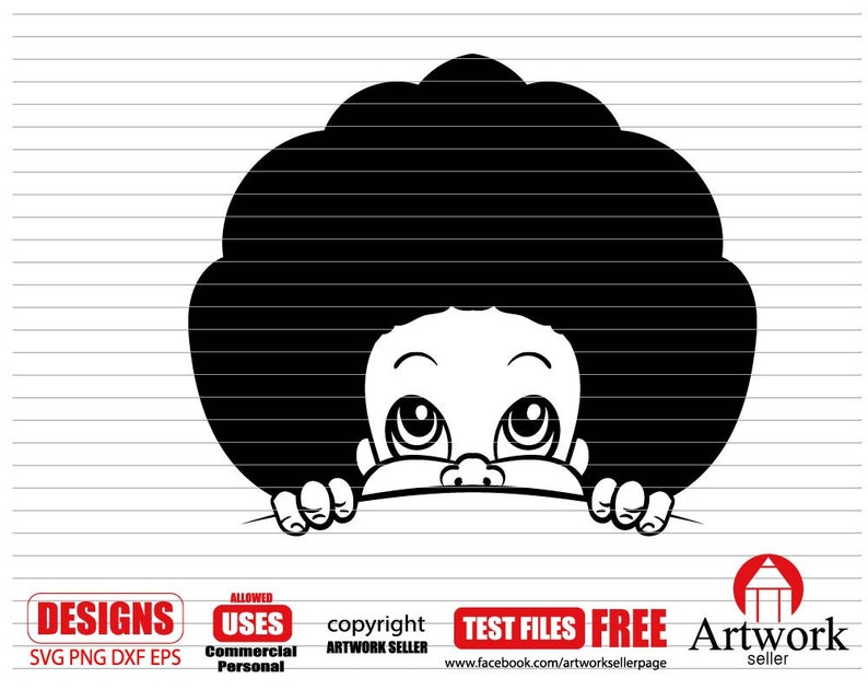 Afro Baby Svg Afro Girl Svg Dxf Curly Hair Svg Clipart Cricut Files Afro Baby Svg