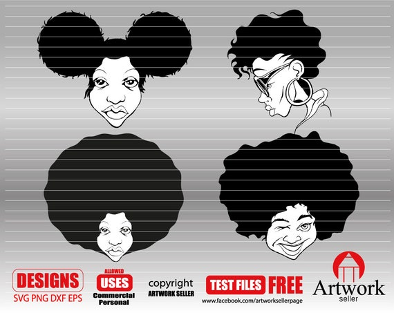 Afro Woman Svg Black Woman Svg Curly Hair Svg Black Magic Etsy