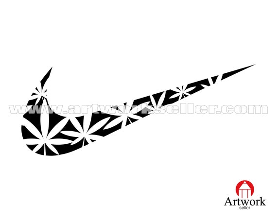 Marijuana Svg Leaf Drug Marijuana Leaf Weed Cannabis Svg Nike Etsy