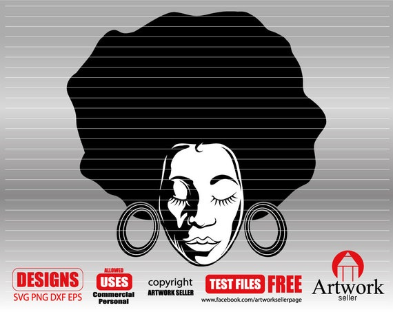 Afro Woman Svg 1 Nubian Svg Curly Hair Svg Black Magic Etsy