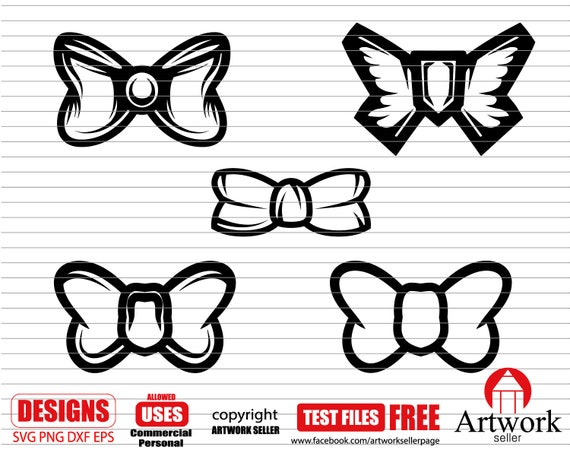 Bow Svg Bow Svg Bundle Ribbon Svg Girl Svg Hair Bow Svg Etsy