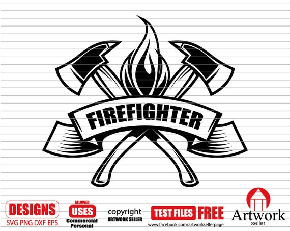 Firefighter Svg Firefighter Axe Axes Fireman Svg Rescue Etsy