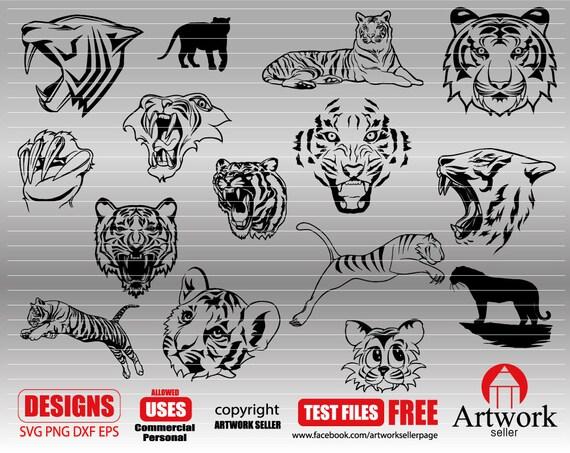 Tiger Svg Tiger Head Svg Fierce Tiger Tiger Silhouette Etsy