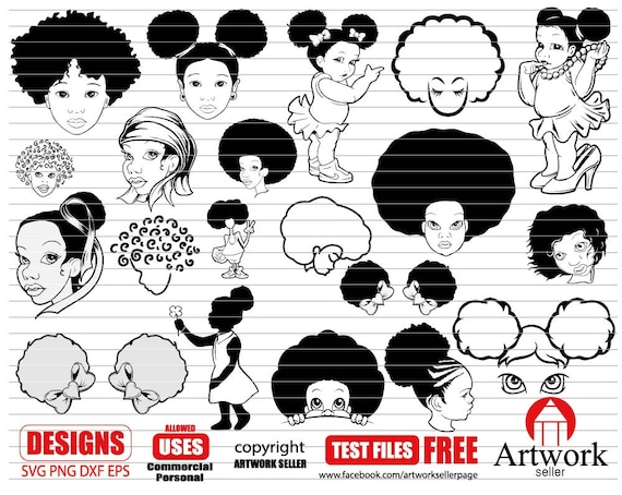 Afro Baby Svg Afro Baby Svg Curly Hair Svg Black Magic Etsy