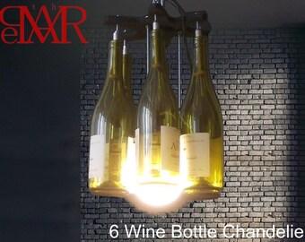 Kostenlose Versand 6 Wein Flasche Kronleuchter Kette Stil Licht  Industrielle Beleuchtung Wein Retro Nostalgie Café