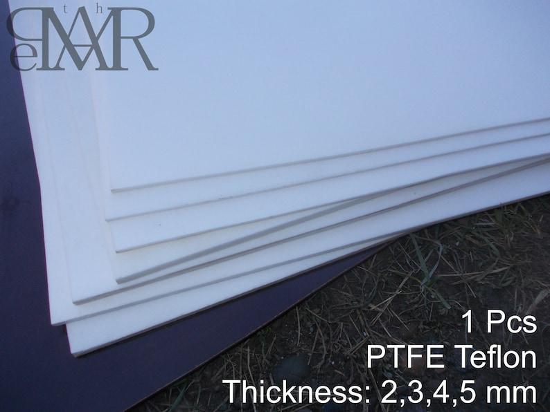 PTFE sheet 2,3,4,5 mm Thick Cut 500 x 500 mm  Teflon  White  plain  bearings, gears polymeric materials micarta polymer stems Handmade Craft