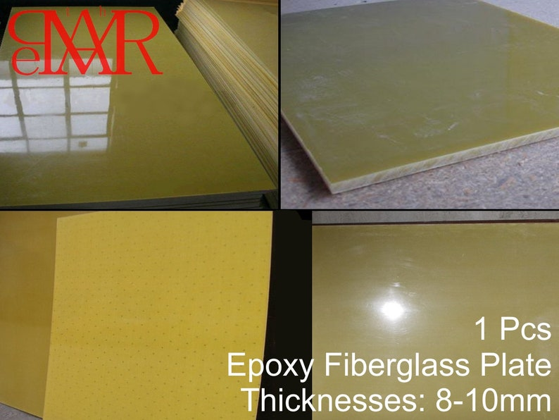 8-10 mm Glass Fiber Fiberglass Board Plate Sheet G10 FR4 Epoxy Yellow