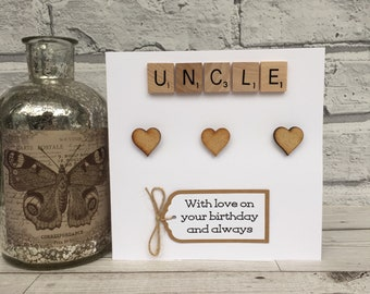 Uncle Birthday Card Scrabble For