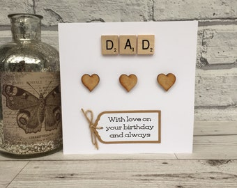 Dad Birthday Card Scrabble For